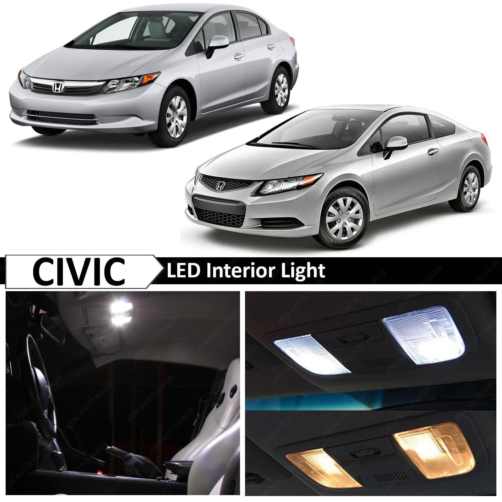 Awesome 8x White Interior Led Light Package Kit Fits Honda Civic 2006 2017 Sedan Coupe 2018