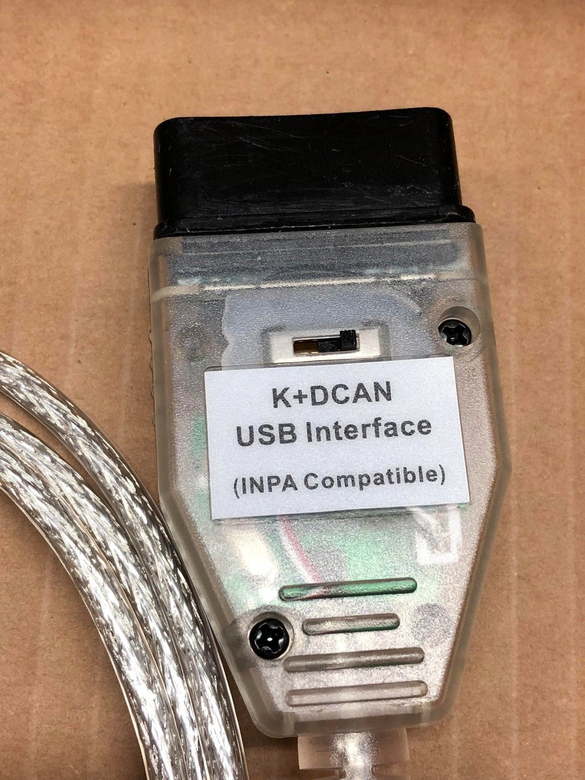 Great BMW K+DCAN OBD2 Cable Switch FTDI FT232RL Tools INPA EDIABAS NCS  EXPERT ISTA 2018-2019