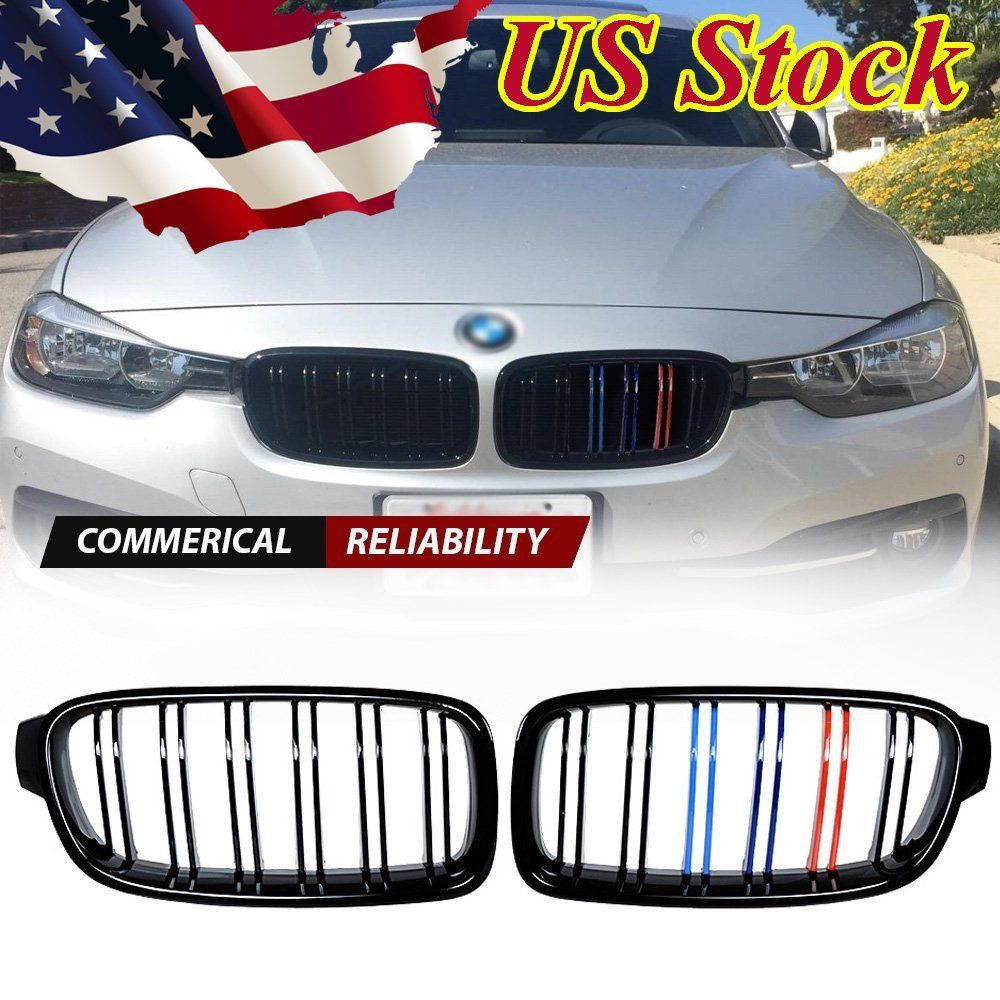 Awesome Fits 2012 2018 Bmw F30 F31 328i 335i 4d Front Kidney Grille