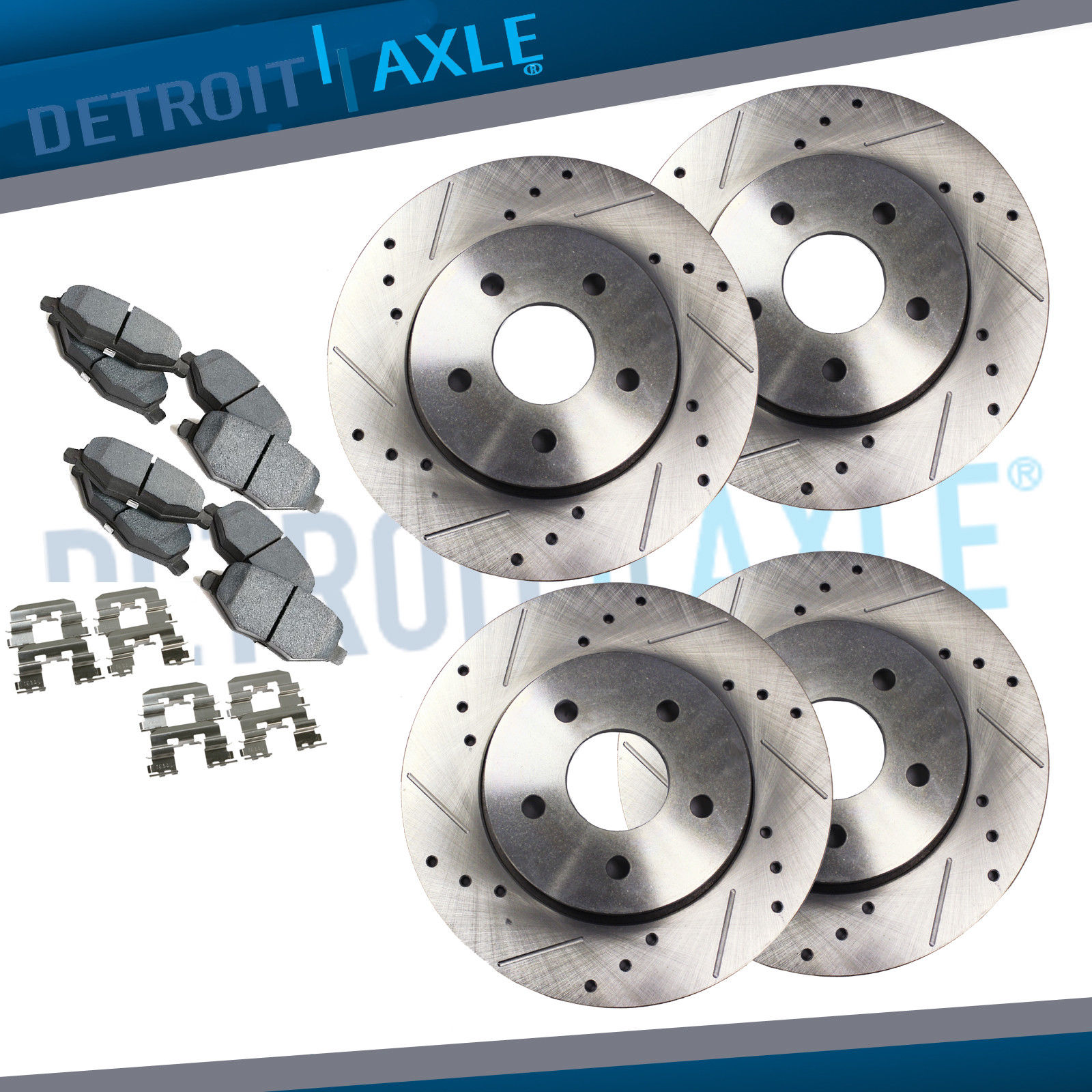 Awesome For 2002 2003 2004 2005 2006 Nissan Altima Front Rear Drilled  Rotors Ceramic Pad 2018
