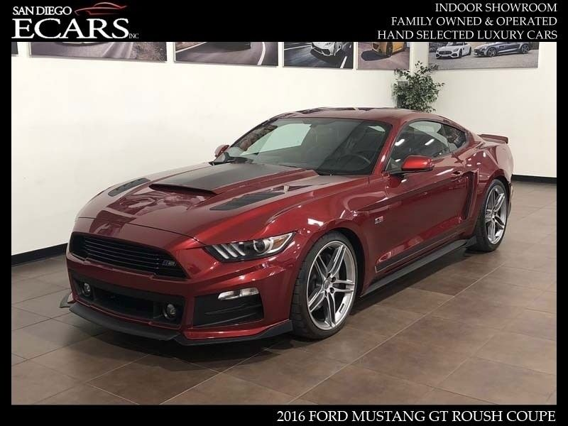 Amazing Ford Mustang Gt Roush 2016 Stage 2 20 Wheels Active Exhaust Ruby Red 8k Miles 2018 2019