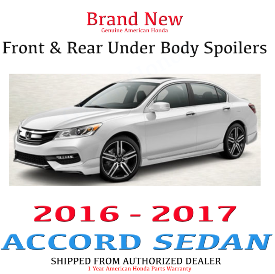 Awesome Genuine Oem Honda Accord 4dr Front Rear Under Body Spoiler 16 17 Sport Touring 2019
