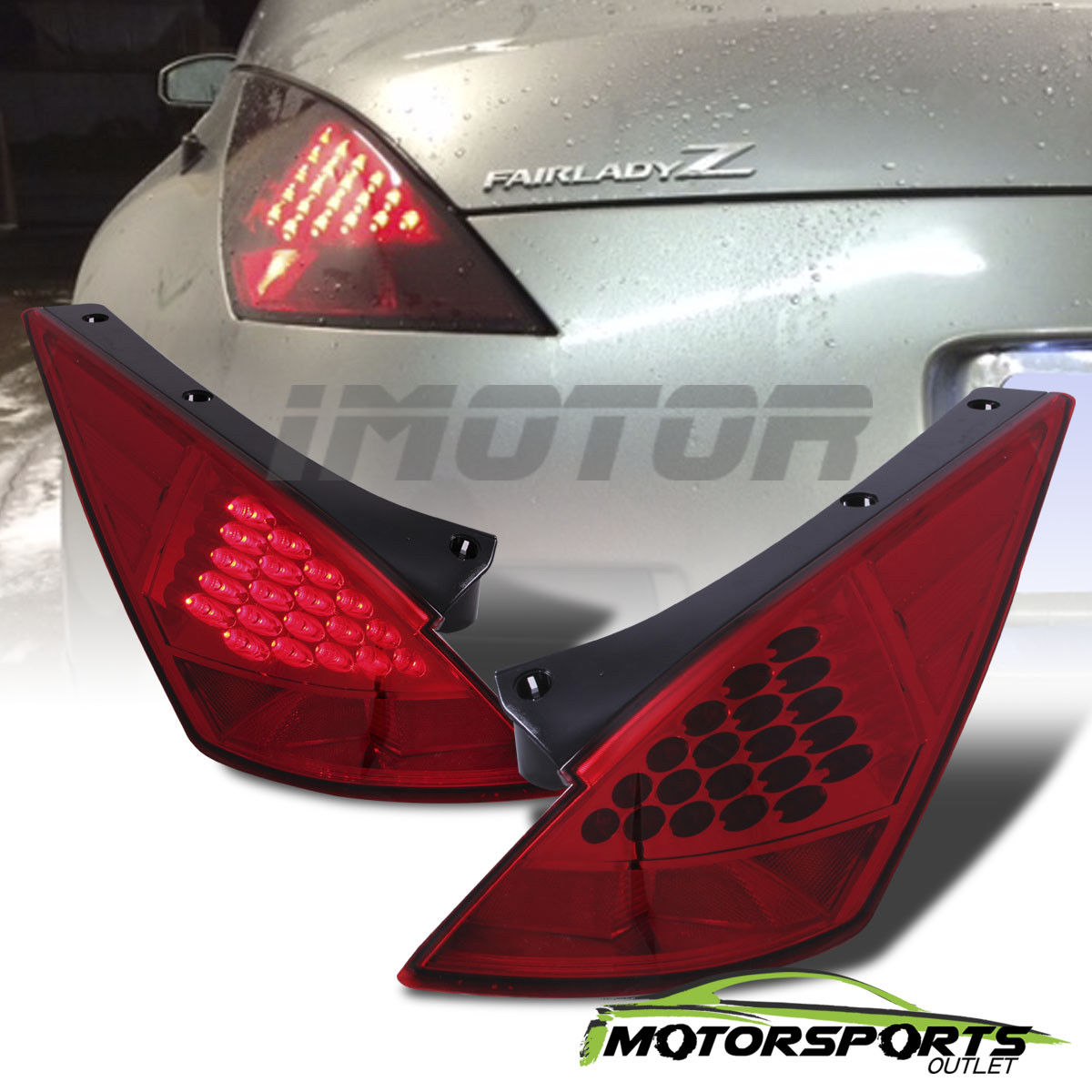 Awesome Led Style For 2003 2004 2005 Nissan 350z Red Rear Brake Tail Lights Pair 2018