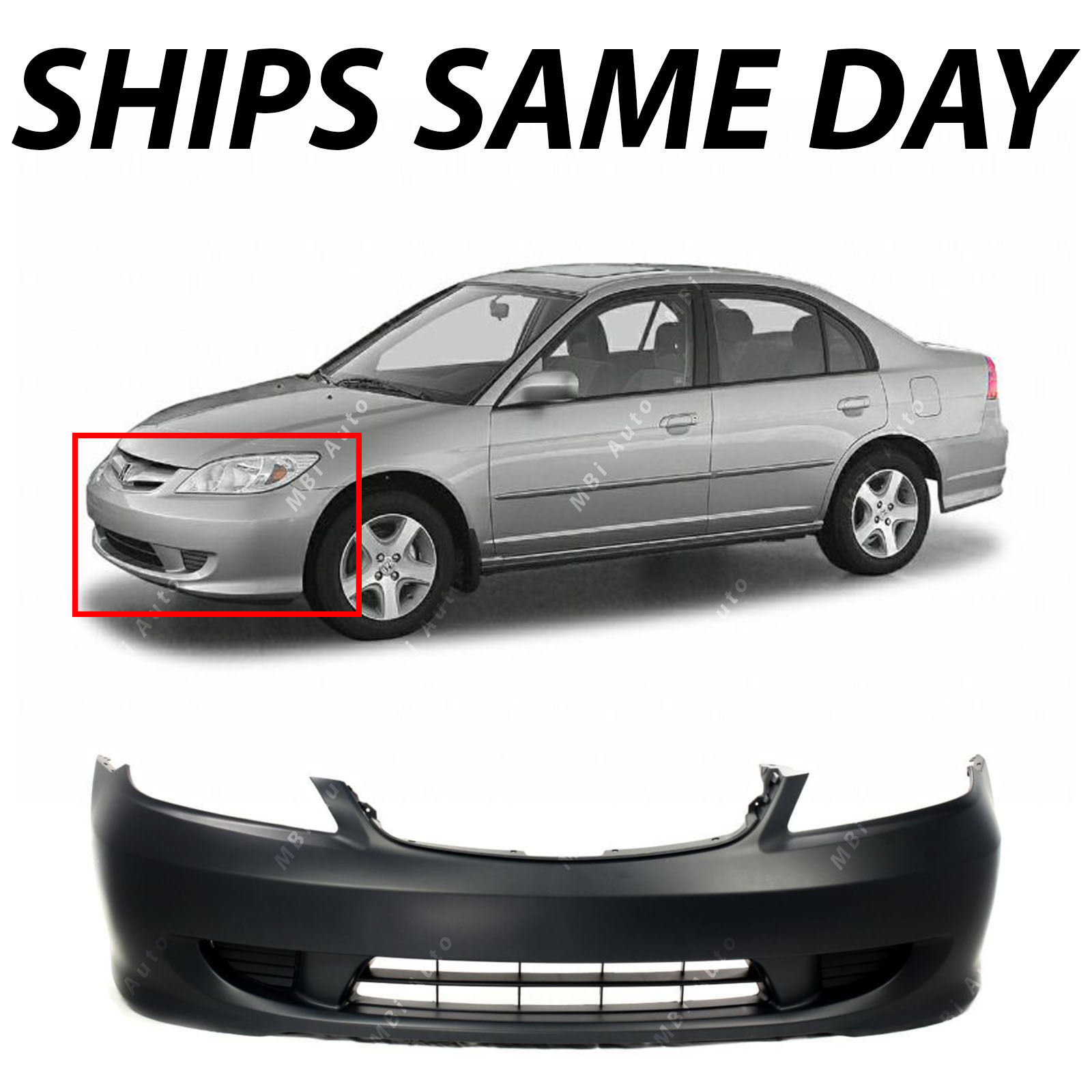 Great New Primered Front Per Cover For 2004 2005 Honda Civic Sedan Coupe 04 05 2018 2019