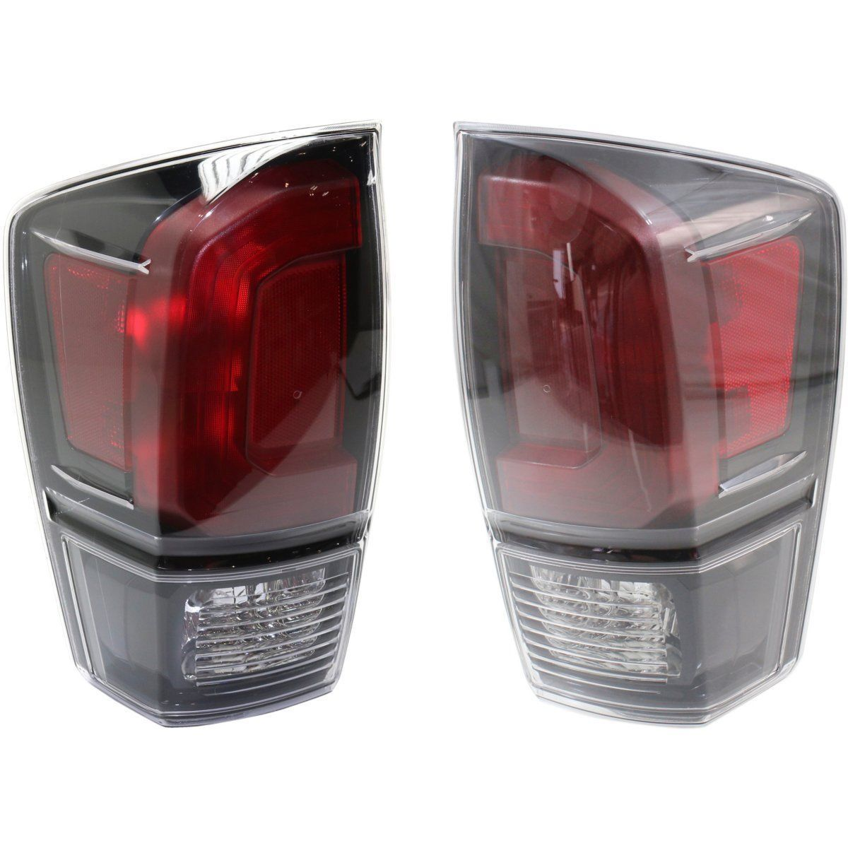 Awesome Toyota Tacoma 2016 2017 Trd Pro Black Taillights Tail Lights Rear Lamps Pair 2018