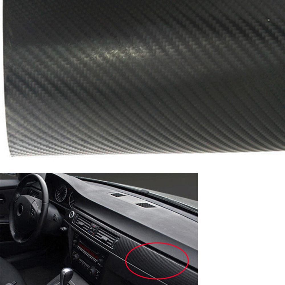 Great 3d Car Interior Accessories Panel Black Carbon Fiber Vinyl