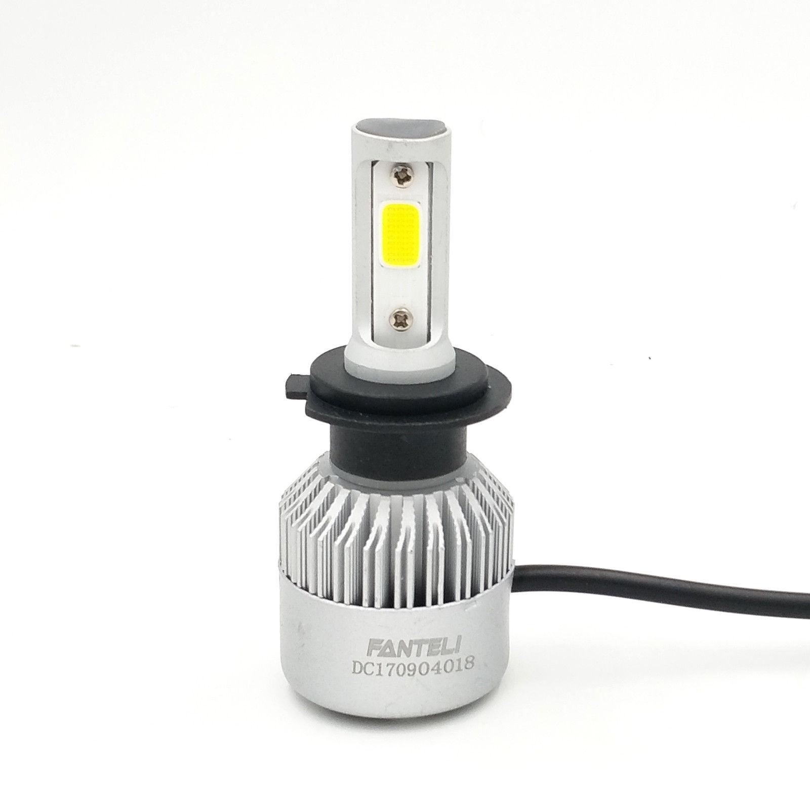 H7 COB Car LED HeadLight Bulb Pure White Turbo 225000LM 6000K 12V//24V 1500W Beam