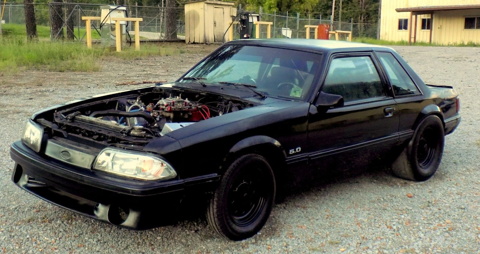 Amazing 1990 Ford Mustang Notchback Mustang Notchback Foxbody LX Fresh  Chevy 406 Engine Glide Race Drag Street Car 2018-2019