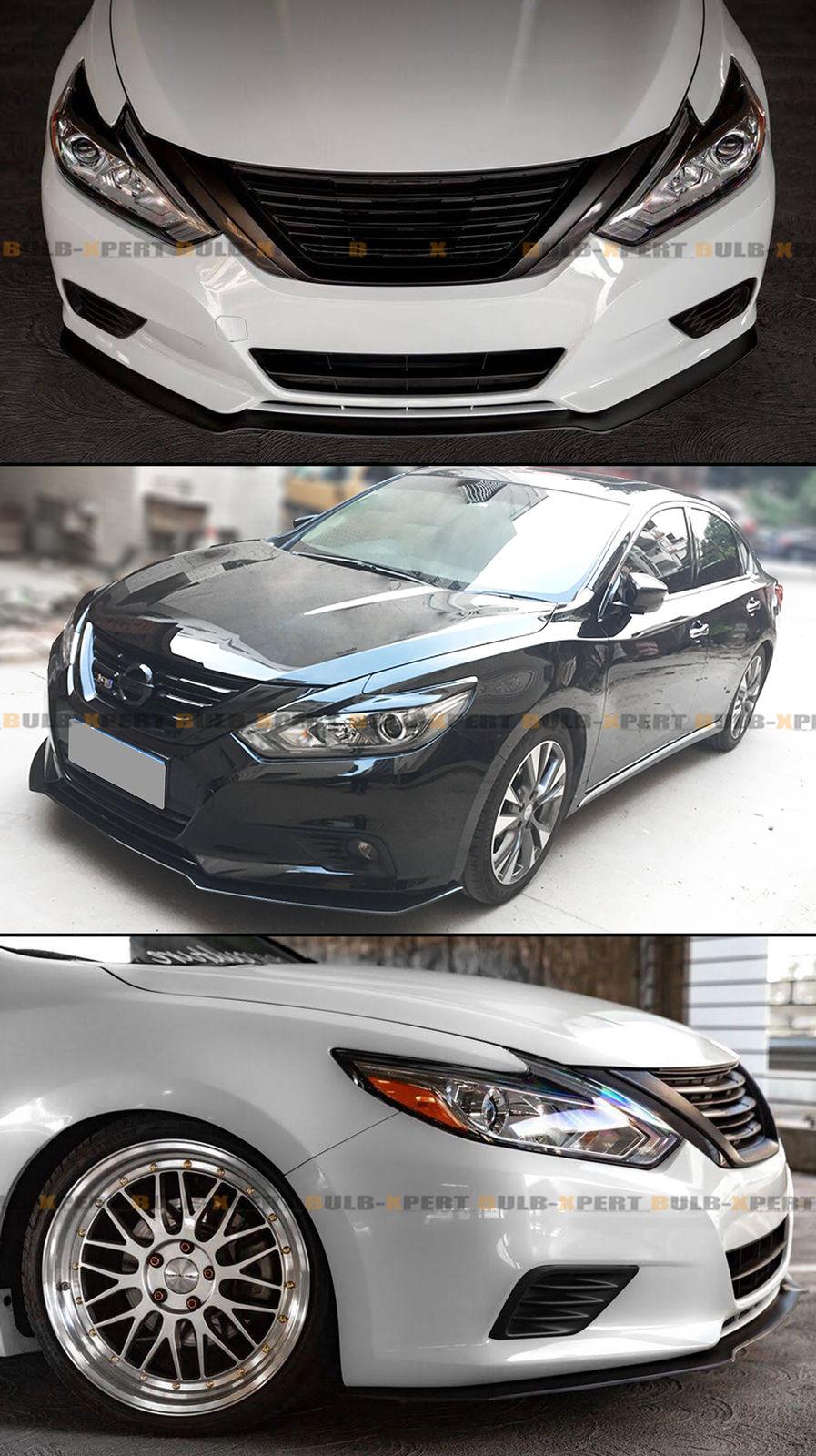 For 2016 2018 Nissan Altima 4 Door Sedan Black Jdm Front Lip Bumper Splitter 2018 2019 Is In Stock And For Sale Mycarboard Com