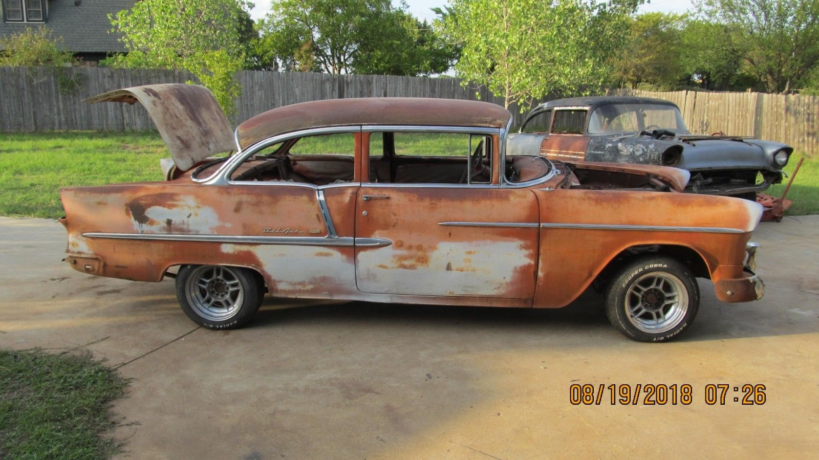 Awesome 1955 Chevrolet Bel Air 150 210 Post Chevy Products 1956
