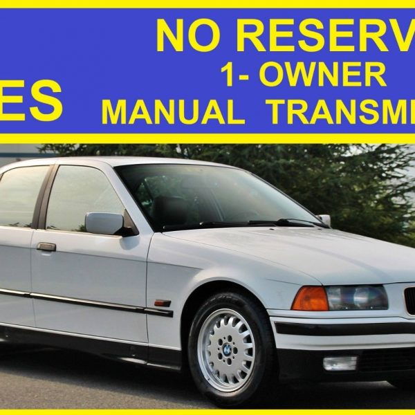 Great 1995 bmw 3-series no reserve 325i manual 1-owner clean e36.