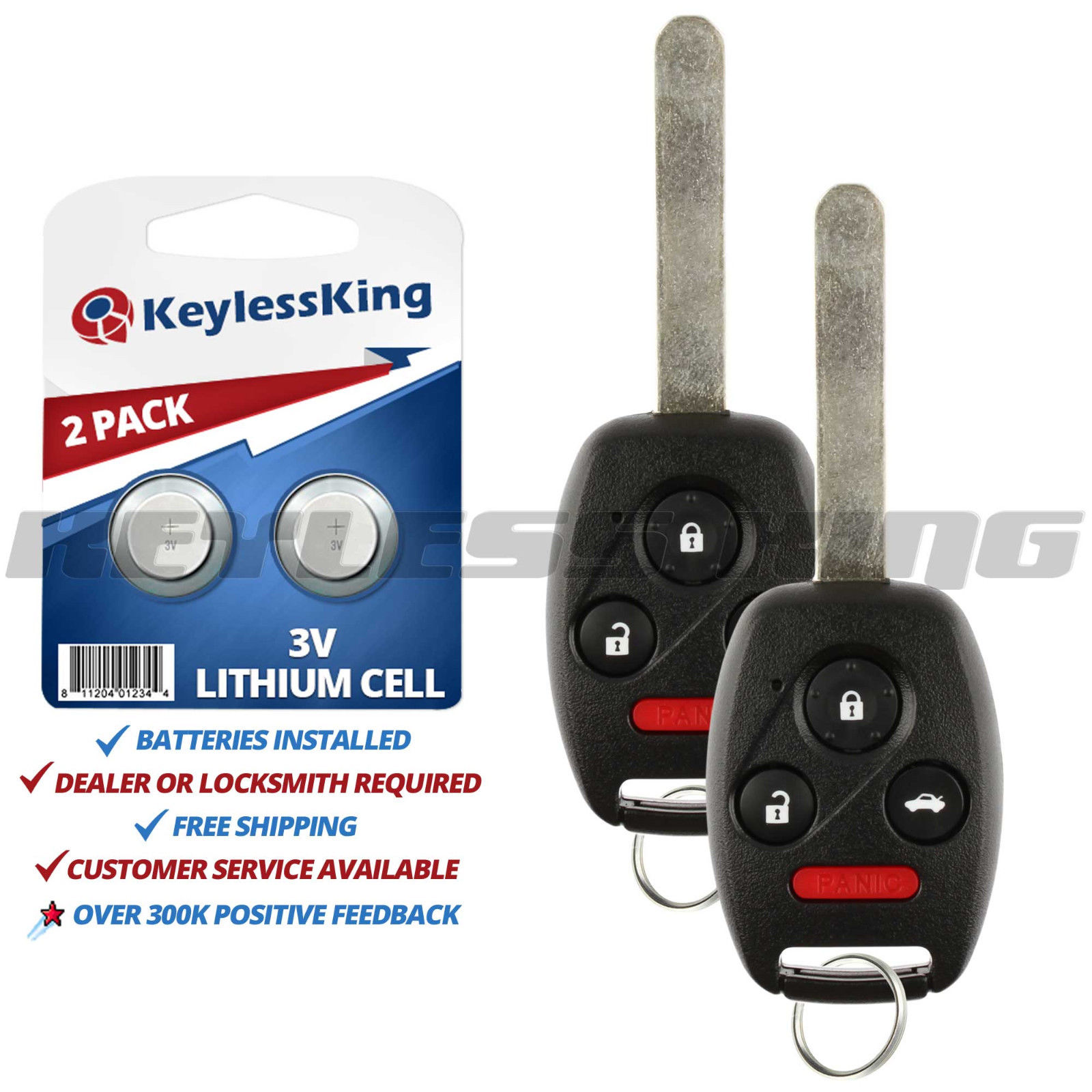 Great 2 Remote Entry Key Fob For 2003 2004 2005 2006 2007 Honda Accord Oucg8d 380h A 2019