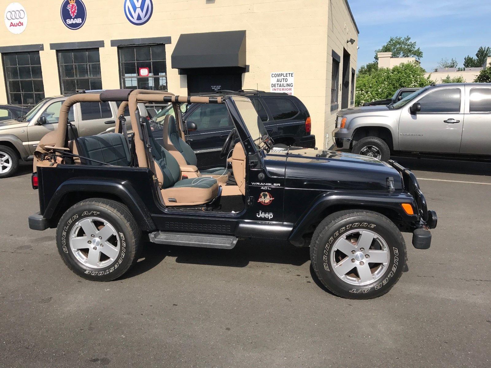 2000 Jeep Wrangler Sahara 2000 Jeep Wrangler Sahara Hard Soft Tops 5spd Manual Black Tan 4 4 Shape 2018 Mycarboard Com