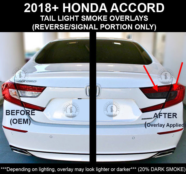 Awesomeamazinggreat Honda Accord Sedan Rear Smoke Rear Tail Light Signal Reverse Overlays Tint