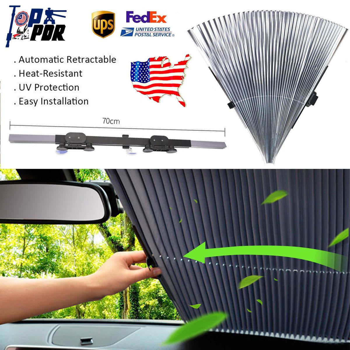 Auto Car Retractable Windshield Sun Shade Visor Folding Block Cover Front Window