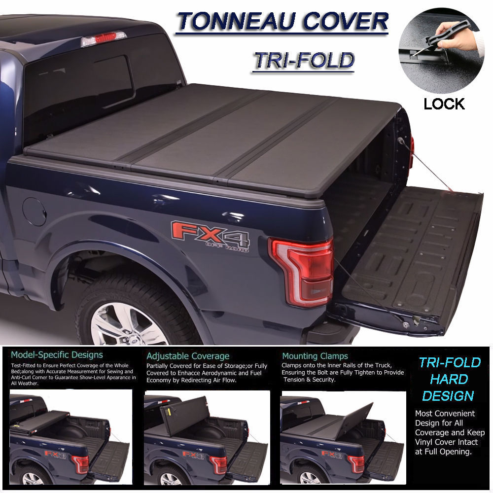 Used Fit 2007 2018 Toyota Tundra Lock Hard Solid Tri Fold Tonneau Cover 5ft 60 Bed 2018 Mycarboard Com