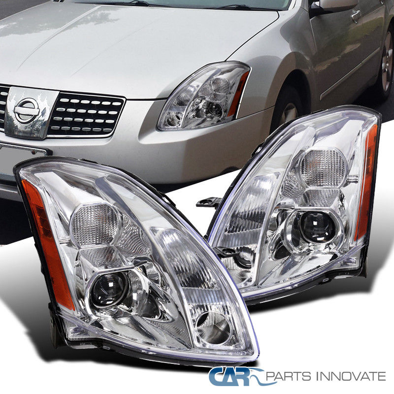 Awesome For 04-06 Nissan Maxima Clear Projector Headlights Replacement Head  Lamps Pair 2018
