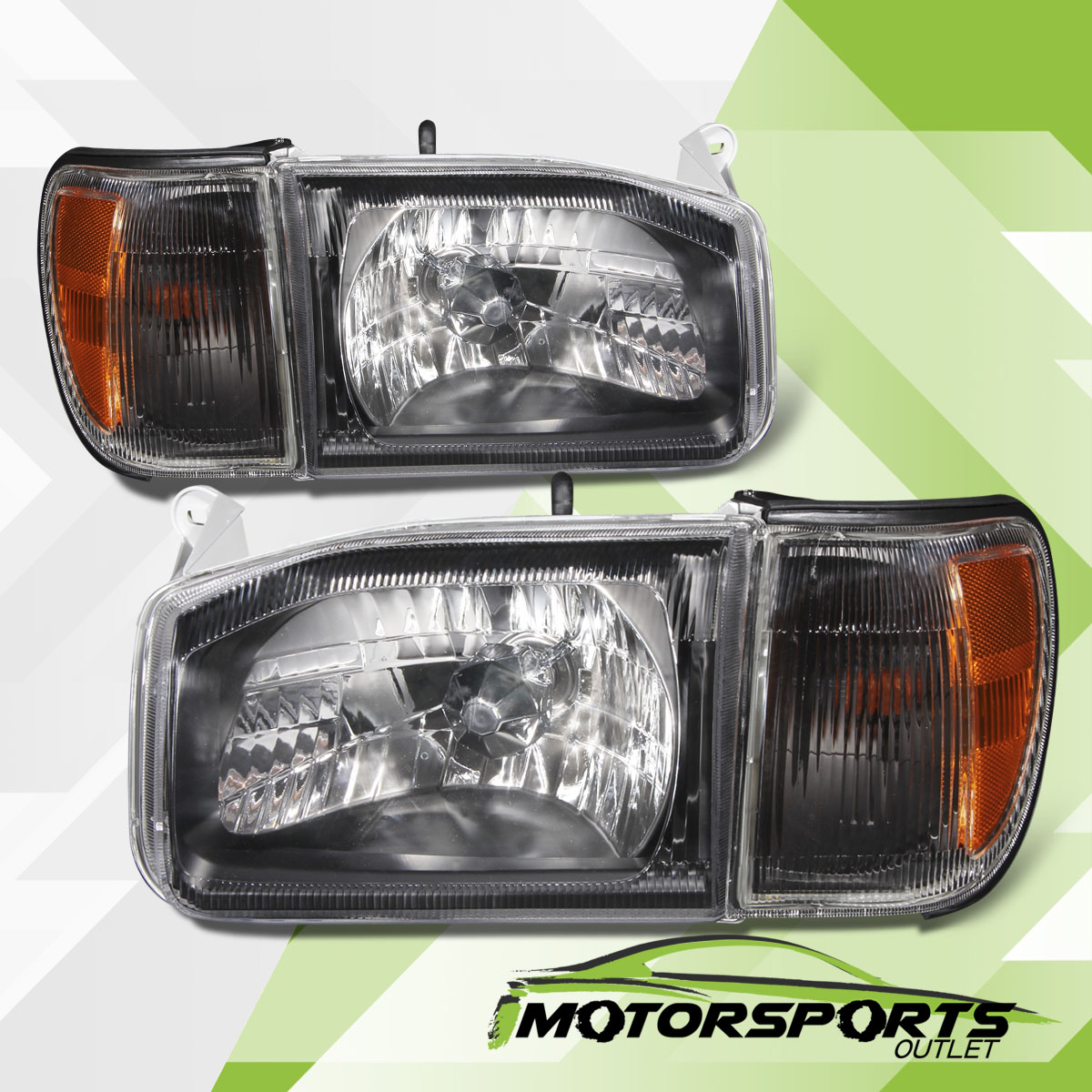 Great For 1999 2004 Nissan Pathfinder Black Headlights Corner Signal Lamps Pair 2018 2019
