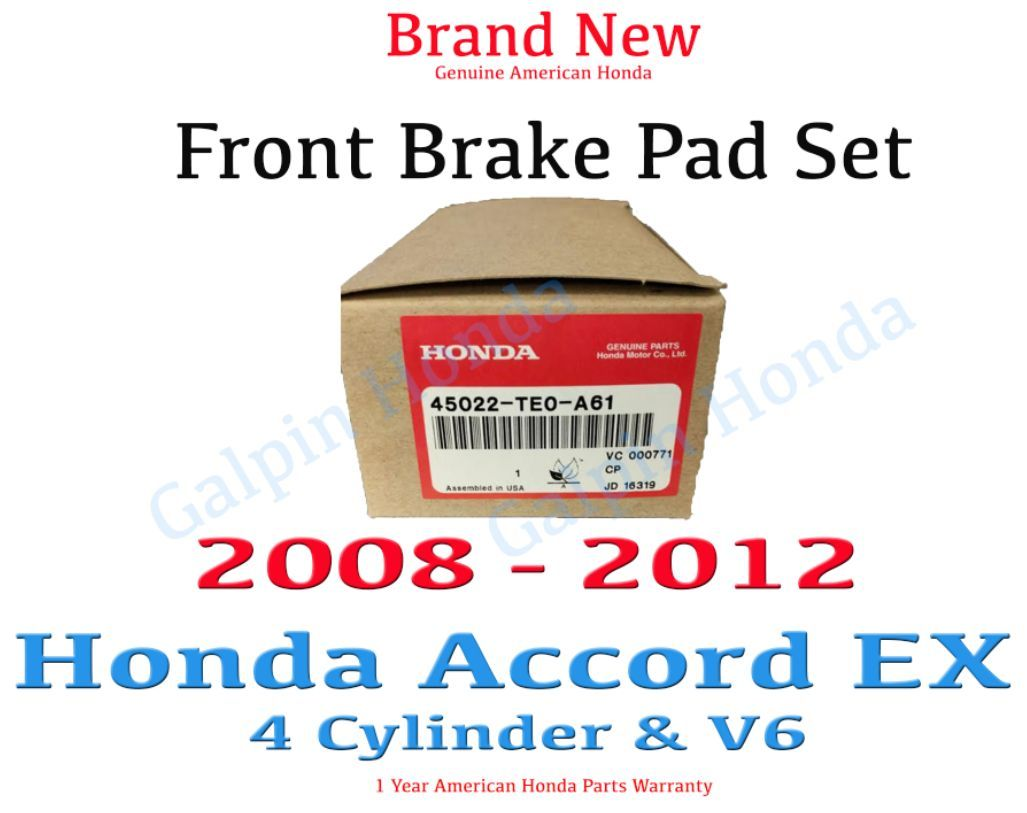 Genuine Honda Brake Pads 45022-TE0-A61