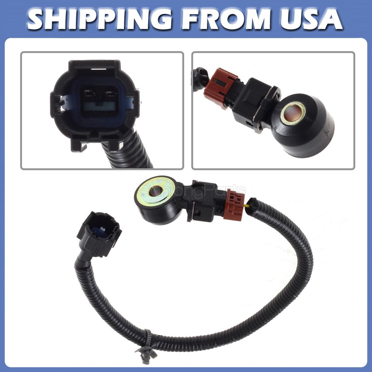Awesome Knock sensor & Wiring Harness For 95-99 Nissan ... on