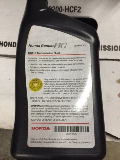 Great 4 Qts Honda Genuine Oem Cvt Transmission Fluid 08200