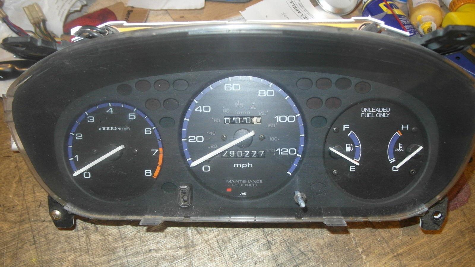 Amazing Honda Civic 5 Speed Manual Tachometer Gauge Cluster 286000 1996 Fuel Item Specifics