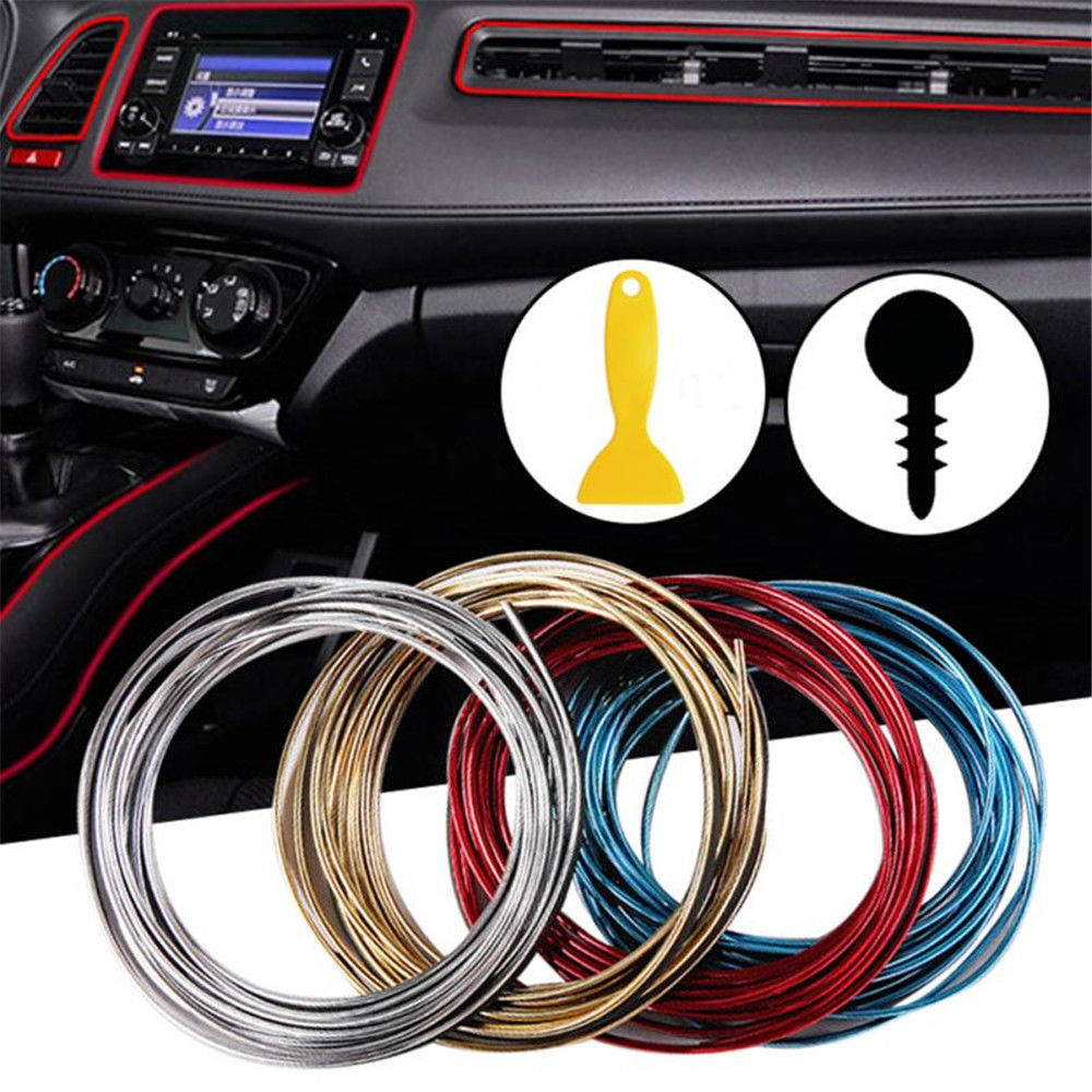 5M Line Car Van Interior Decor Point Edge Gap Door Panel Accessories Molding X