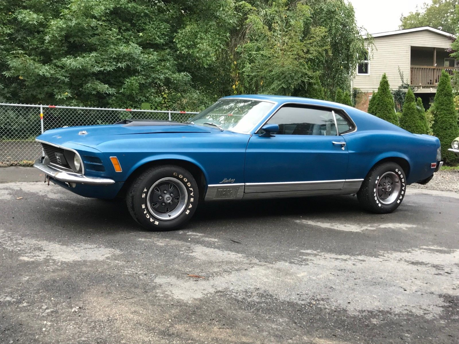 Awesome 1970 ford mustang 1970 ford mustang mach 1 survivor h code 351 bright blue basically all original 2018 2019