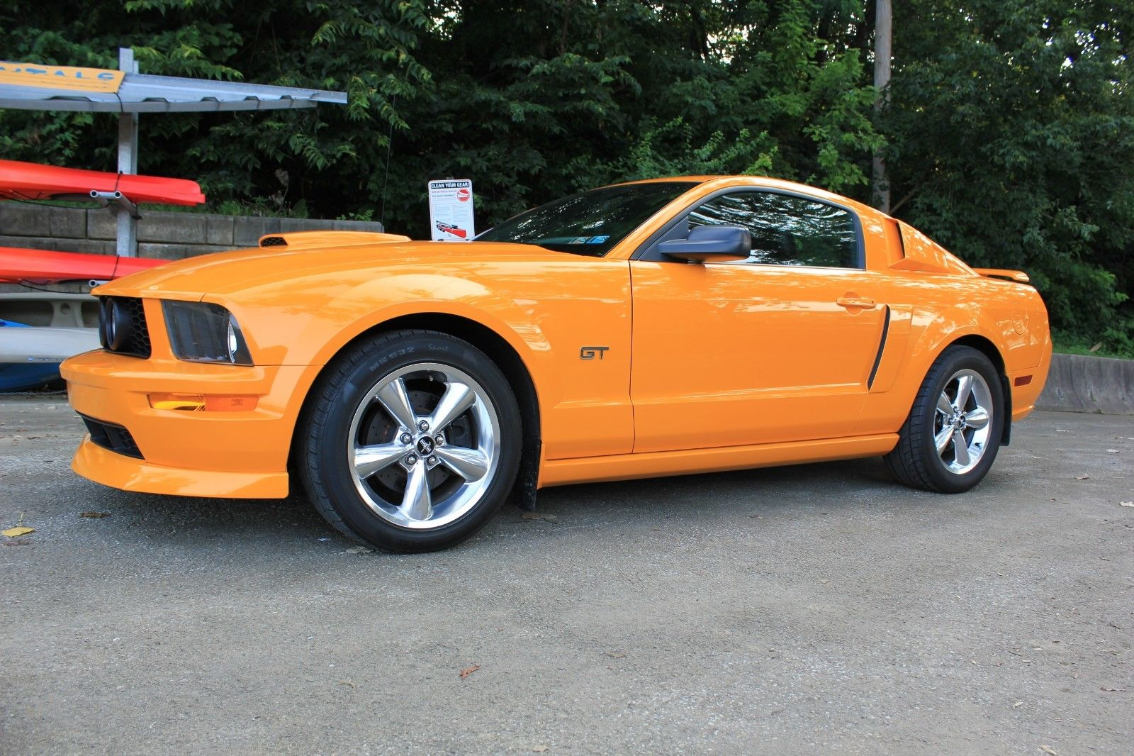 Awesome 2008 Ford Mustang Premium Gt 5 Sd V8 Rare Grabber Orange Leather Loaded No Reserve 2018 2019