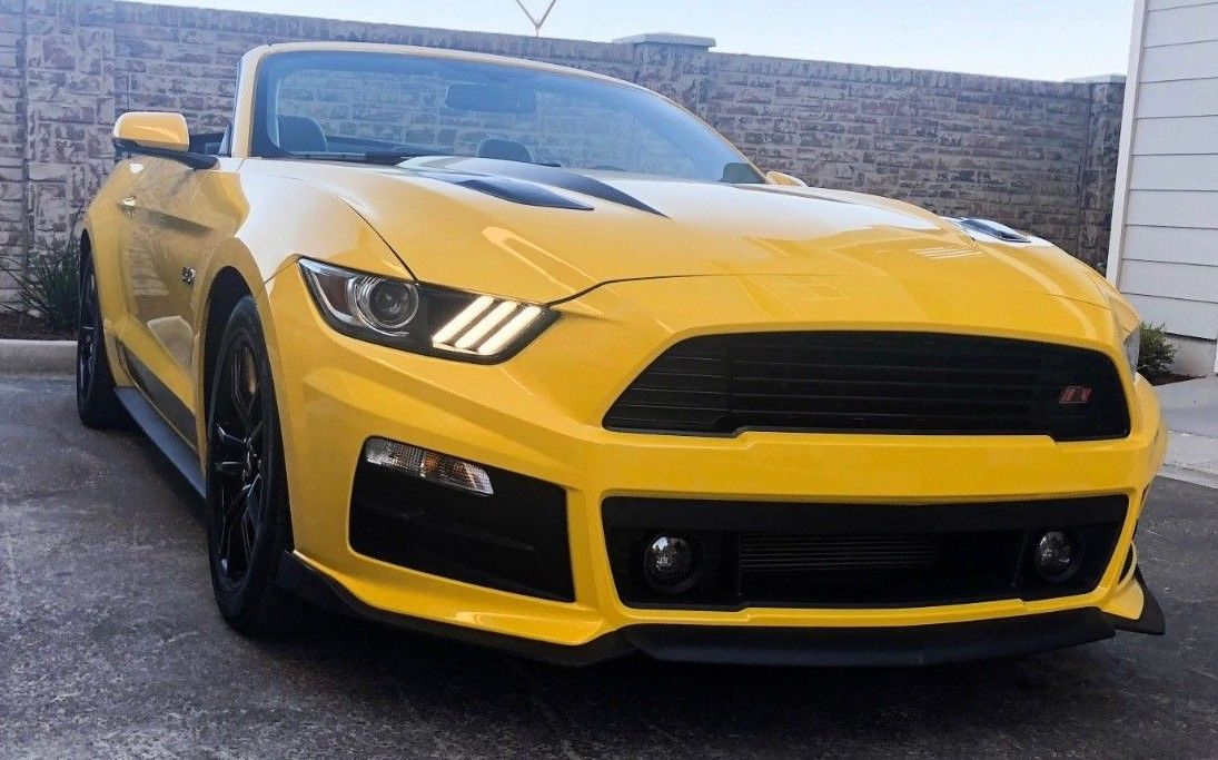 Amazing 2016 Ford Mustang Gt Convertible Premium Roush Fascia Yellow Rwd V8 Automatic 2019