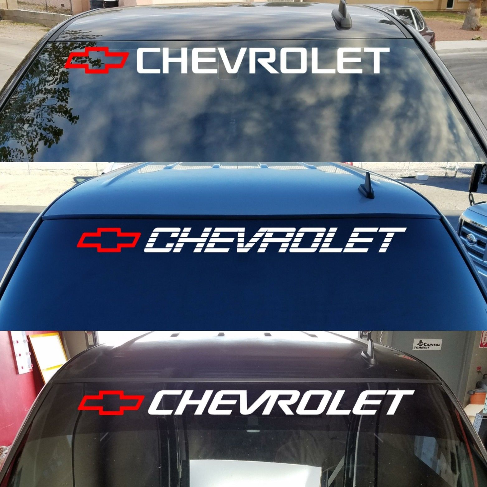 Awesome CHEVROLET Window Decal CHEVY TRUCKS Windshield ...