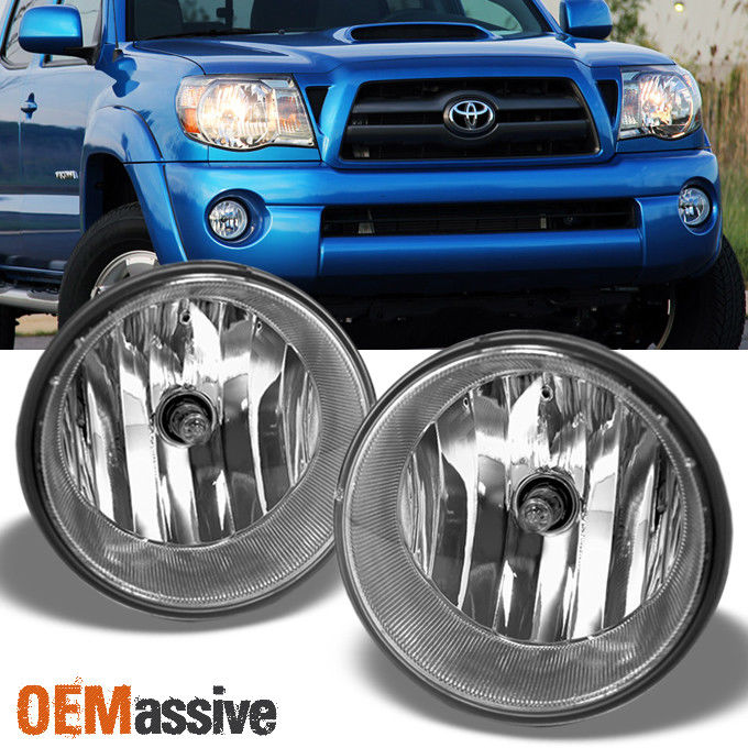 awesome fits 2005 2011 toyota tacoma pickup bumper fog lights lamps
