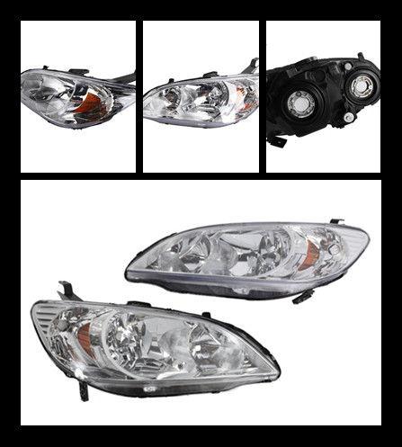 Amazing For 04 2005 Honda Civic Sedancoupe Factory Style Headlights