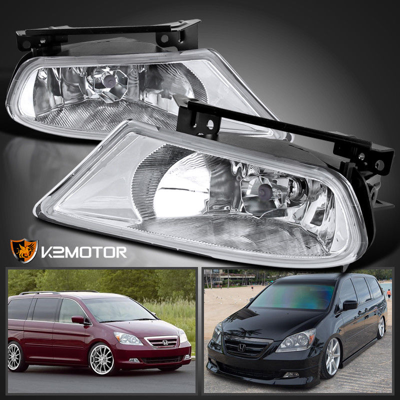 Great For 2005 2007 Honda Odyssey Clear Per Driving Fog Lights Switch Bulbs Pair 2018 2019