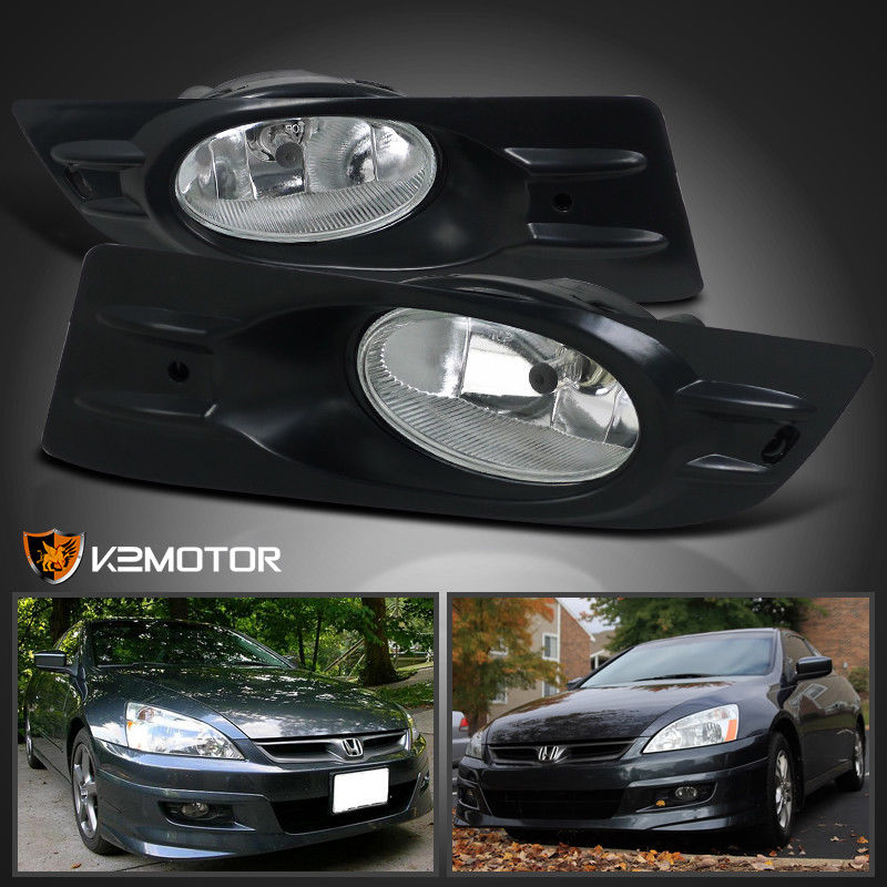 great for 2006-2007 honda accord 2dr coupe clear bumper fog lights+switch  2018-2019