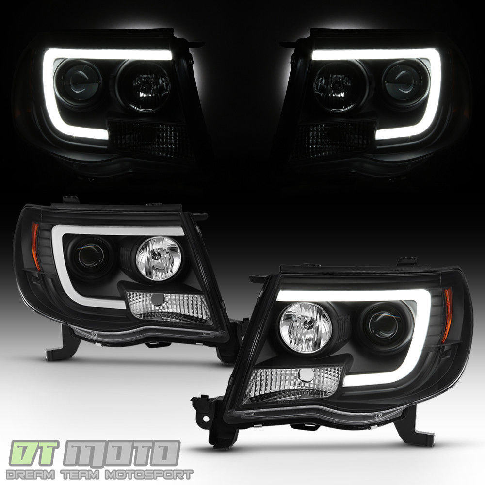 Great For Black 2005 2017 Toyota Tacoma Led Light Projector Headlights Headlamps 2018 2019