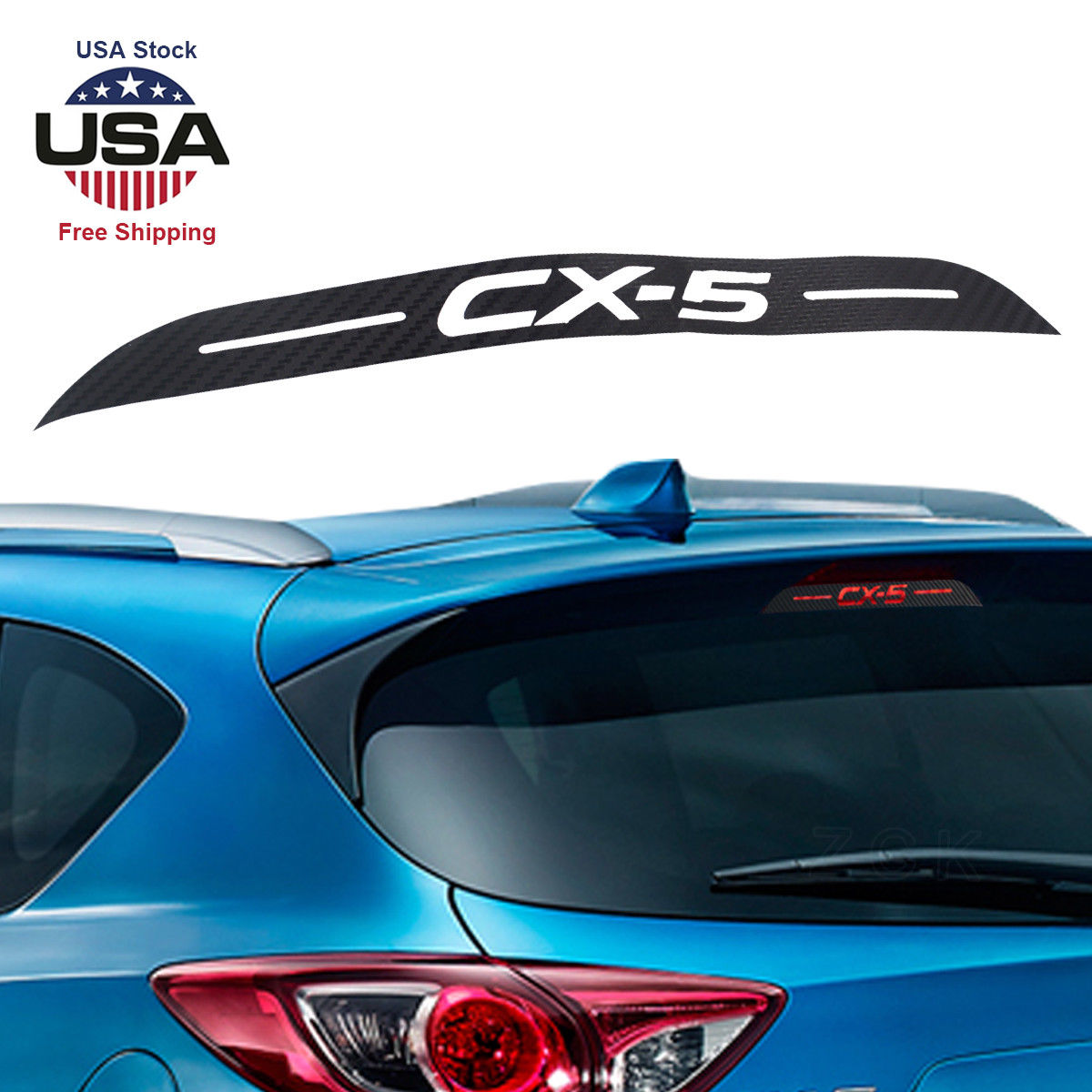 Great for mazda cx 5 cx5 hollow carbon fibre rear brake light sticker decal 2013 2018 2019
