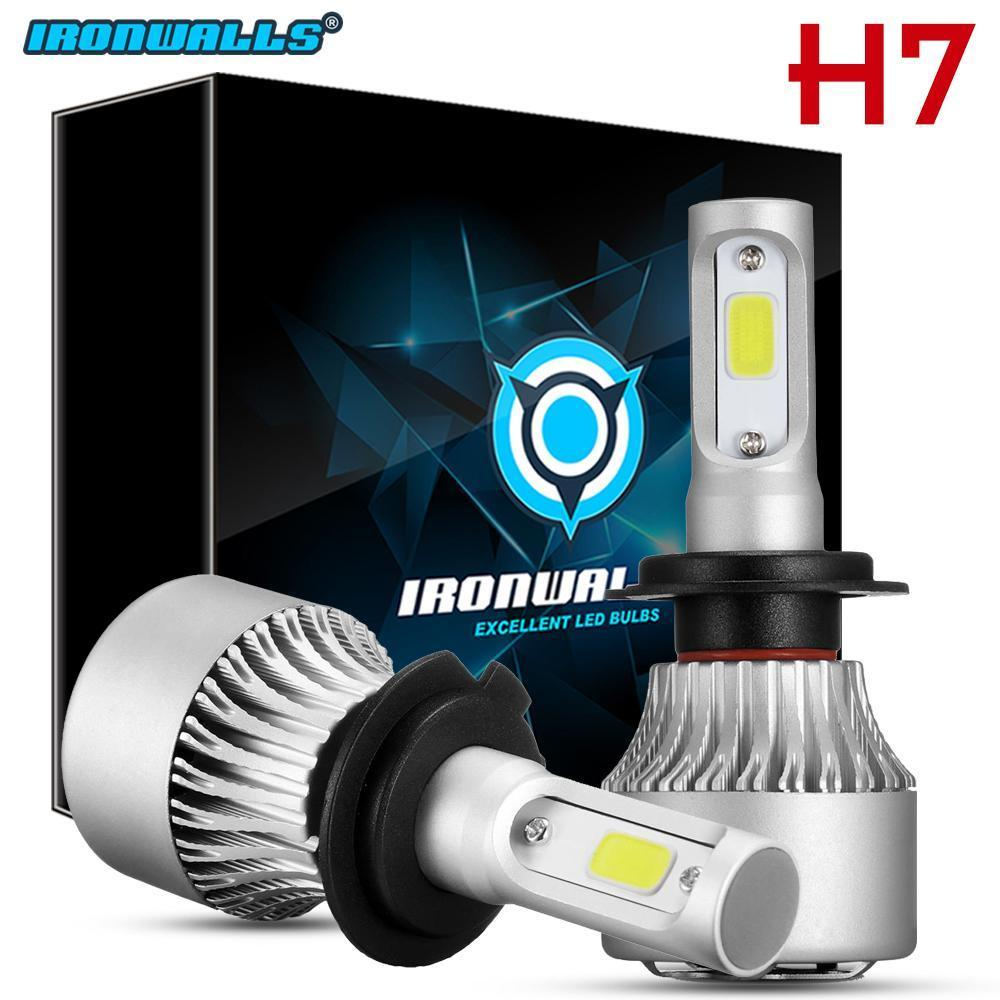 H7 Ironwalls Led Headlight Conversion Kit 1500w 225000lm Lamp Light Bulbs 6000k 2019