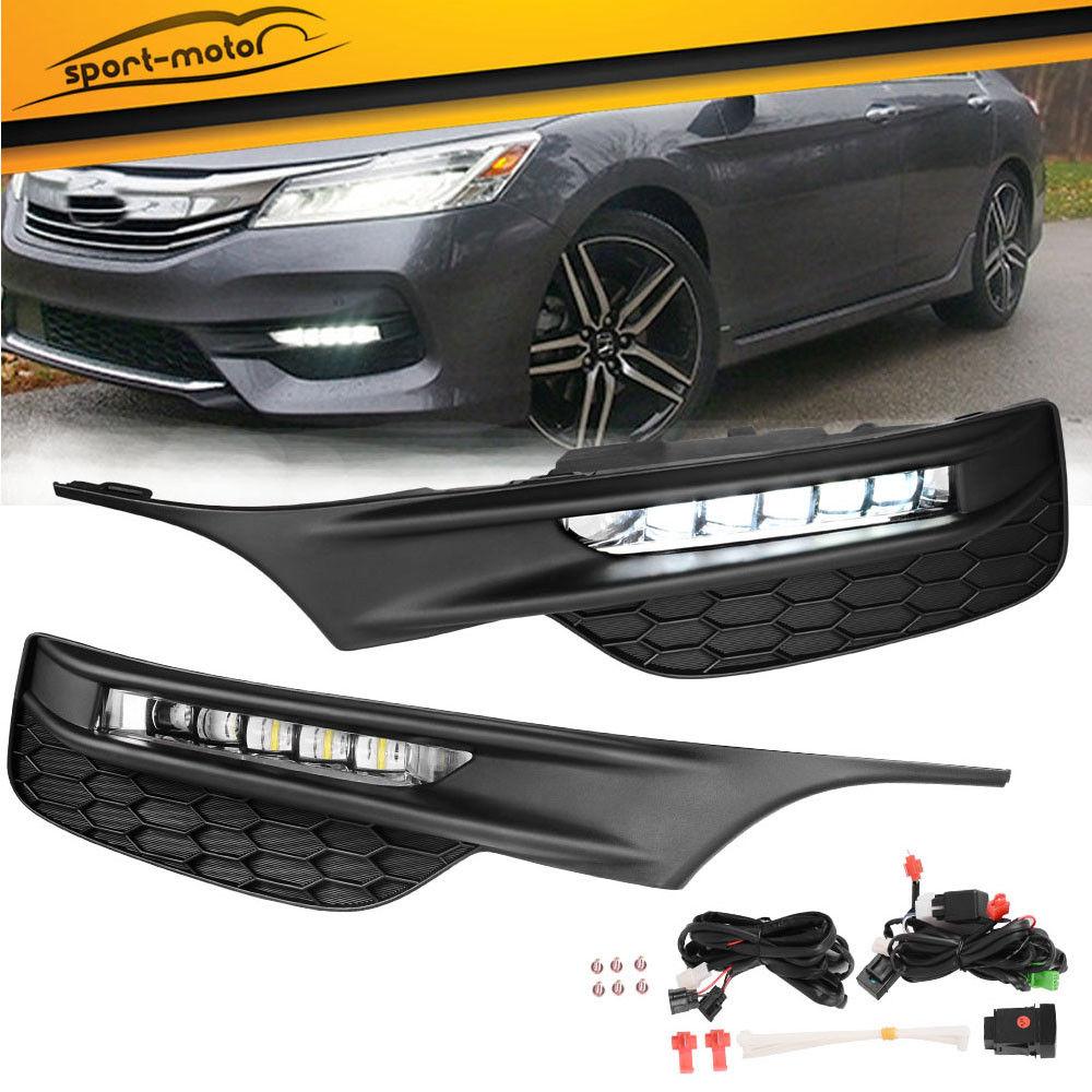 Amazing For 2016 2017 Honda Accord Sedan Led Clear Per Fog Lights Lamps Wiring Switch 2018