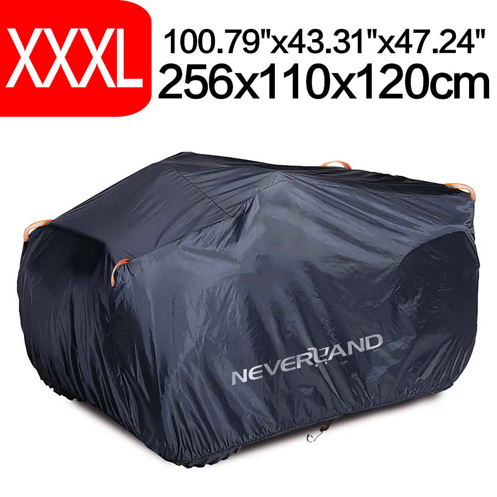 XXXL 190T Waterproof ATV Cover Universal For Polaris Honda Yamaha Can-Am Suzuki