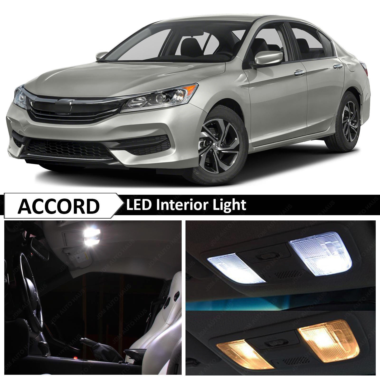 Amazing 16x white interior led lights package replacement - Honda accord interior light bulb replacement ...