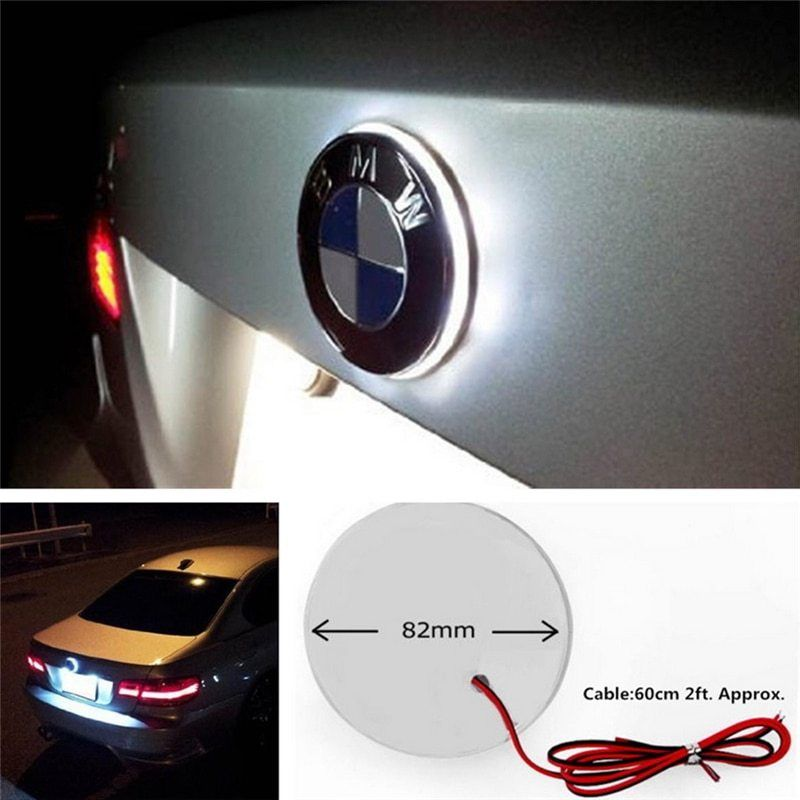Amazing 1x White LED Emblem Logo Hood Light For BMW 1 3 5 6 7 X1 X3 X5 Z M3  M5 M4 Series 2019