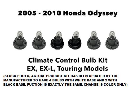 Great 2005 – 2010 Honda Odyssey EX EX-L Dash Panel Climate Control Light 6  Bulb Kit 2018