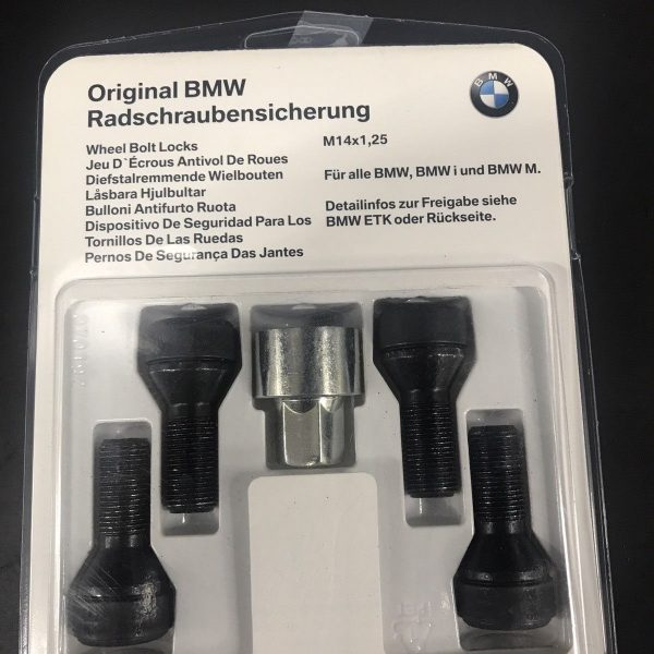 amazing bmw oem wheel lock set   mycarboard