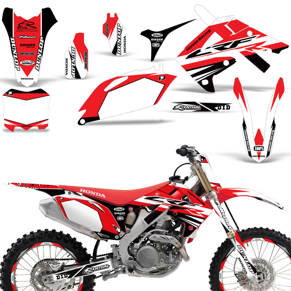 Awesome Honda CRF250 2010-2013 CRF450 2009-2012 Decal Graphic Kit Dirt Bike  BOOST R 2018-2019